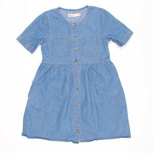ASOS Blue Denim Button Front Jean Dress